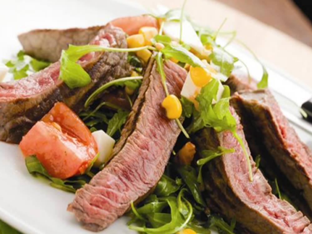 Rib Of Beef With A Rocket Salad